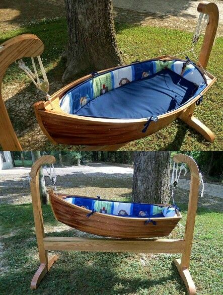 Crafts. Wooden boat bed for baby. Super cool & make & sell