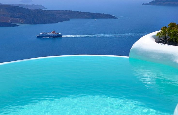 Dana Villas - Santorini | View from the Outdoor heated infinity plunge pool