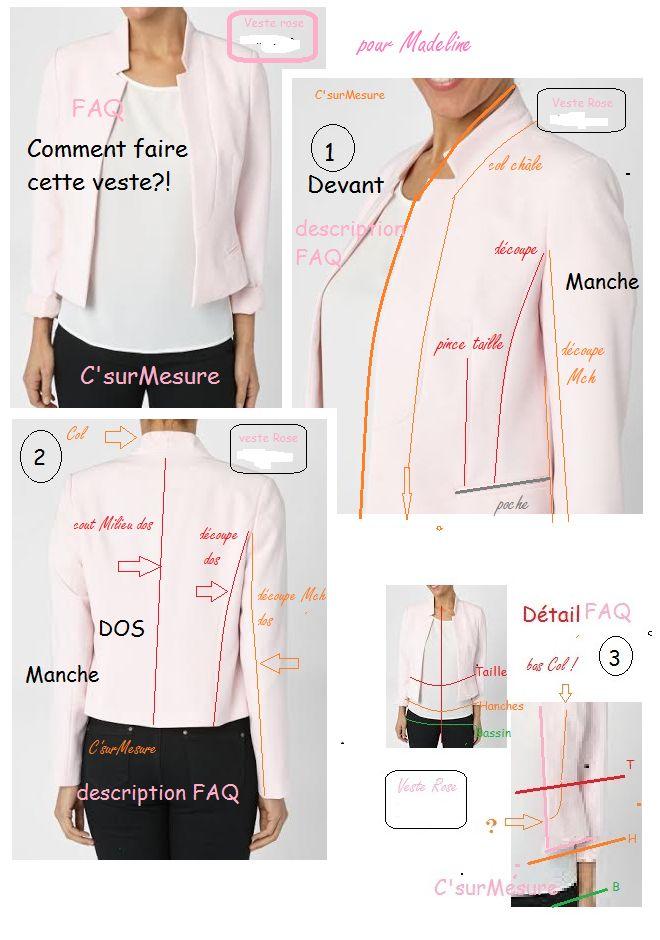 Sehr Plus de 25 idées uniques dans la catégorie Patron veste femme sur  TS55