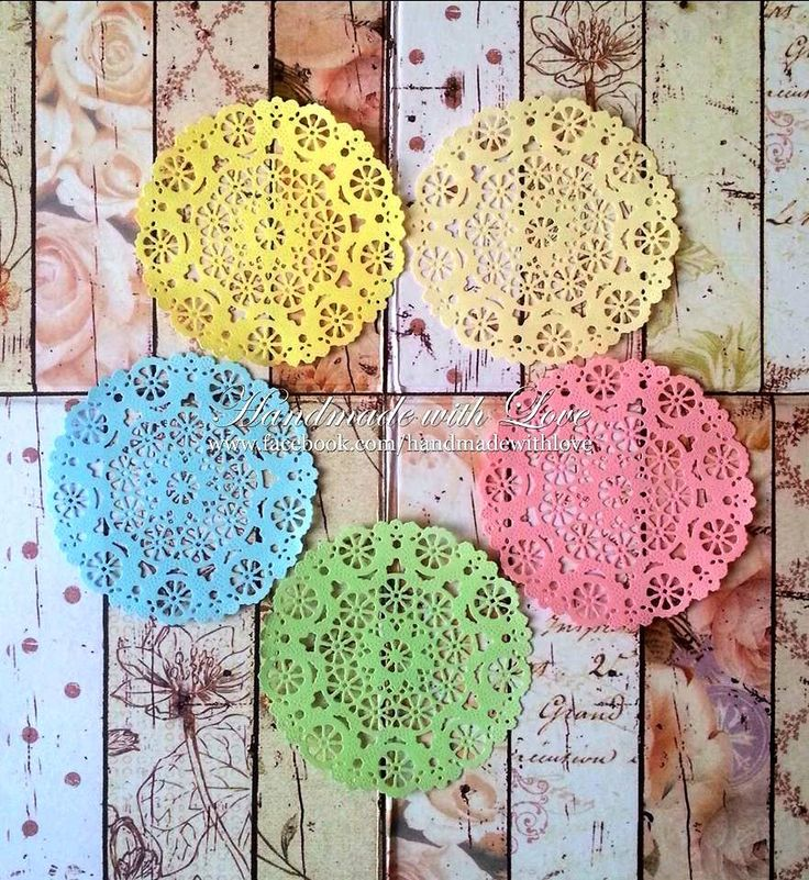 Medallion Pastel Paper Doilies. 1 pack of 10pcs. 2pcs of each lovely pastel colour. by PaperCraftwithLove on Etsy