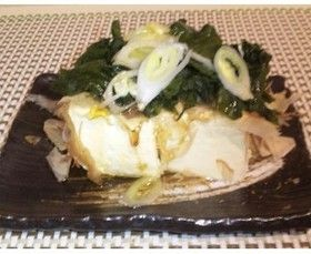 塩蔵わかめで簡単❤塩豆腐!!