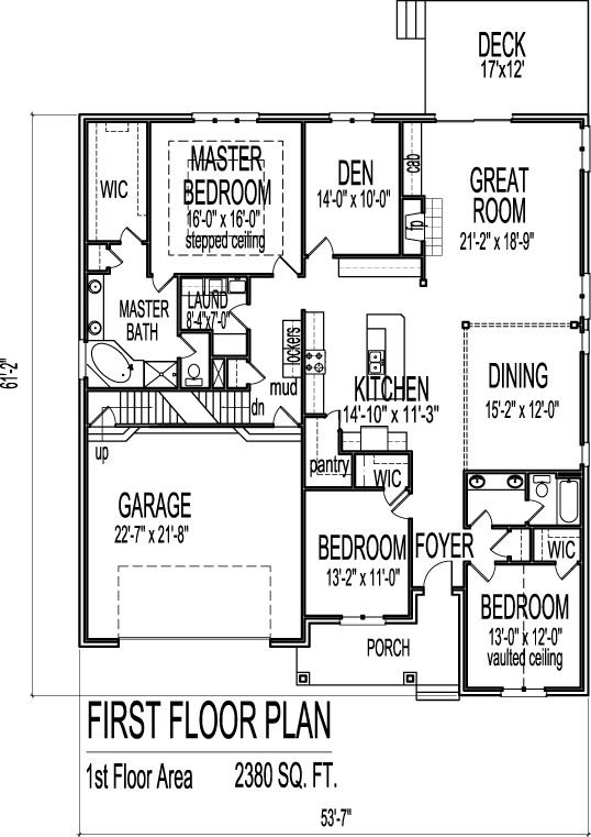 2500 sf brick ranch floor plans with basement 1 level 3 bed chicago