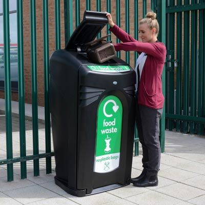 Keep vermin out and odours in with the Nexus® 140 outdoor food waste litter housing. #GlasdonUK #ExternalLitter #Bins #FoodWaste