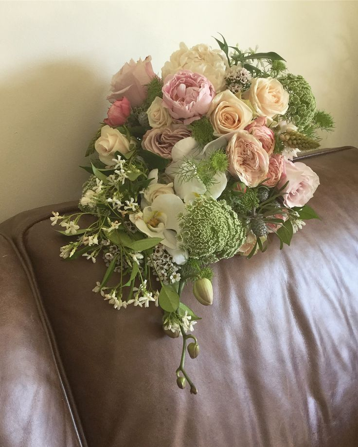 Summer cascading bouquet
