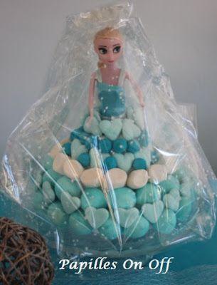 Papilles on/off: Poupée barbie Elsa en bonbons – Sweet Table Anniversaire Reine des neiges