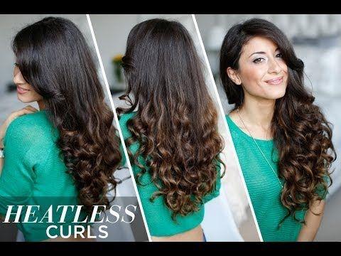 Heatless Curls Hair Tutorial - YouTube