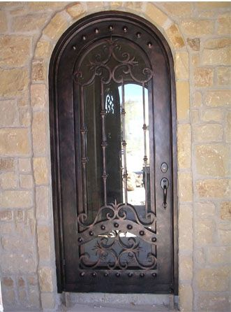 Wrought Iron Door Installed By Lovethatdoor Single Doors