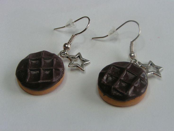 boucles d'oreille gateau choco pépito fimo de Jewelry fimo sur DaWanda.com