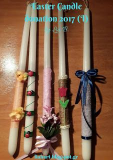 Lia B. Creations: Easter Candle donation2017 (I)