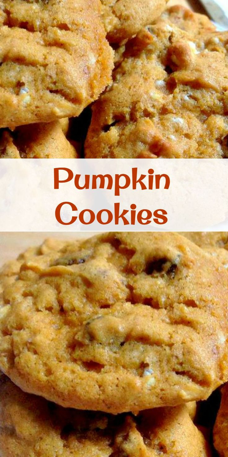 Delicious Pumpkin Cookies! Easy to make and they go fast so make sure you have plenty!