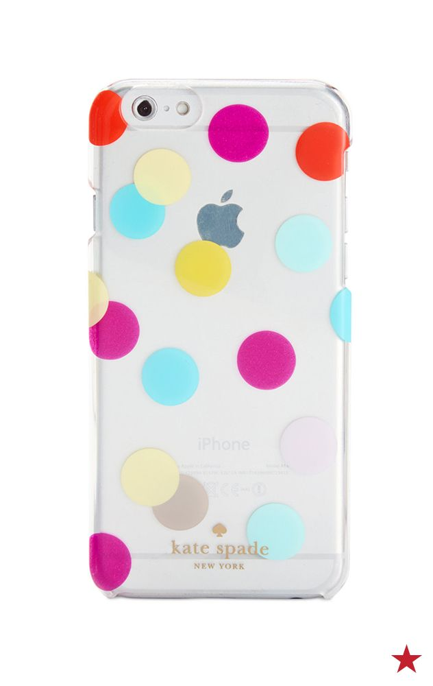 Pretty, pretty polka dots! This kate spade new york transparent iPhone case will give your accessory game a fab pop of color.