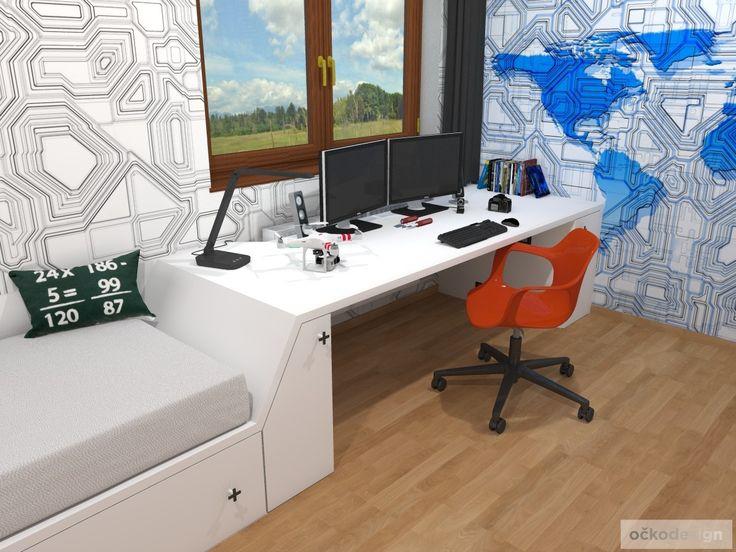 Dětský pokoj pro malého technika – RD Moravičany | očkodesign