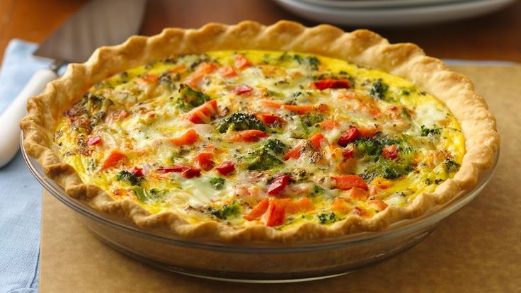 Bake up a cheesy quiche loaded with colorful, good-for-you veggies. Pepperoni Italian Vegetable Quiche