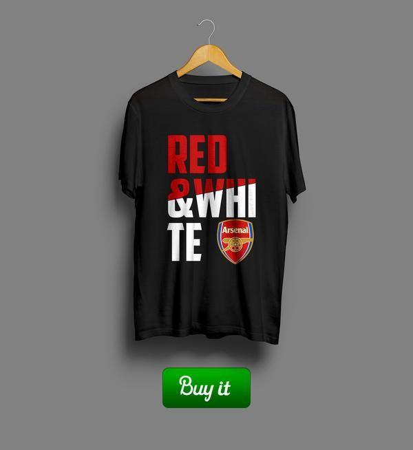 Red and white | #Арсенал #Arsenal #Football #Club #футбол #футболка #tshirt #Gunners #Канониры