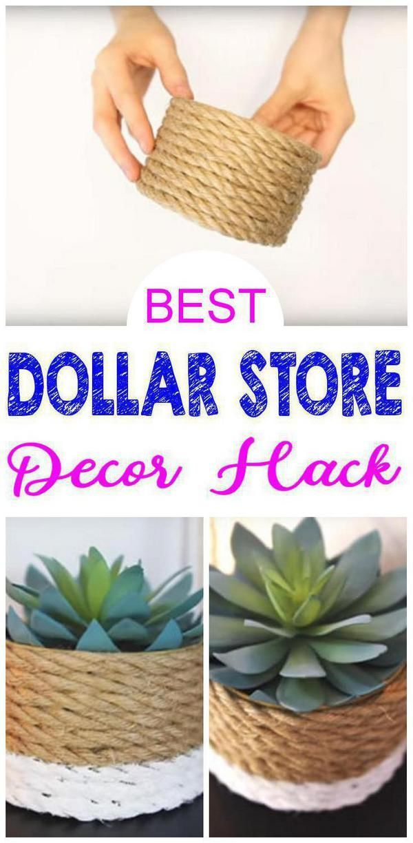Dollar Store hack for the BEST home decor! Easy DIY Dollar Tree craft project id…