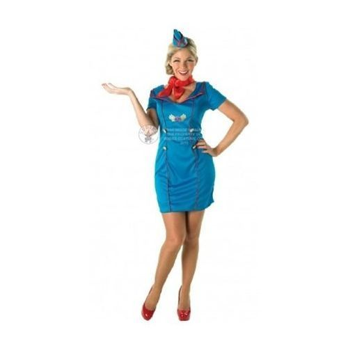 adults ladies size 16-18 air hostess cabin crew trolly dolly fancy dress costume