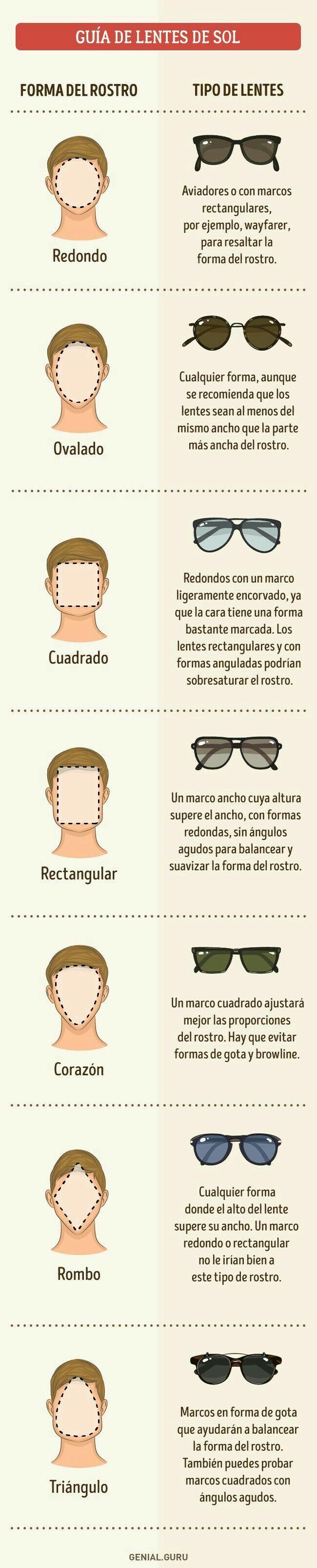 Tipos de gafas según la forma de tu cara. #personalshopper