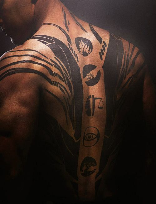 Divergent Tobias Tattoos | can we just appreciate tobias tattoos? I mean look at this!