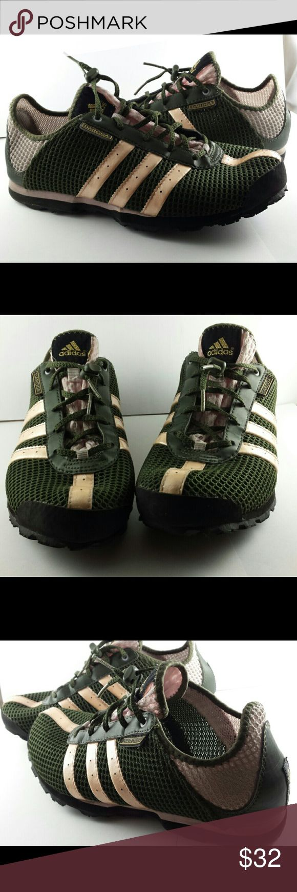 Adidas Daroga Mesh Green/Light Pink Trail Shoes Adidas Daroga Mesh Trail Shoes in Dark Green and Light Pink. Worn twice, in perfect shape. Very lightweight and the mesh provides breeze. Very comfortable. Size 9 Adidas Shoes