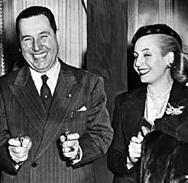 Juan and Evita Peron  Argentine Government. 1946. Juan D. Perón is elected president of Argentina.