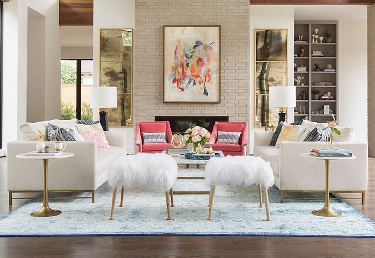Different Color Palettes From Living Into Family Room