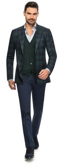 Prince of wales - Made to Measure jacket by Louis Purple