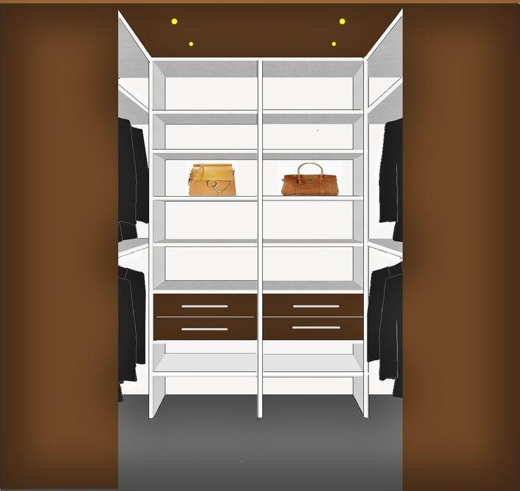 "kleine inloopkast: veel ruimte en vaak voordeliger dan ""gewone"" schuifdeurkast."