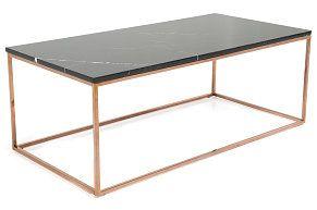 Sofabord Titania Svart Marmor/Kobber 120x60x45 cm