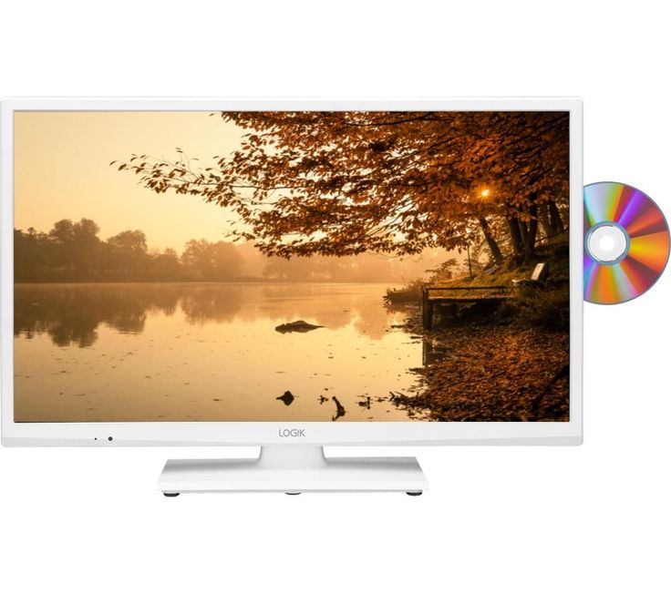 """LOGIK L24HEDW15 24"""" LED TV with Built-in DVD Player - White"""