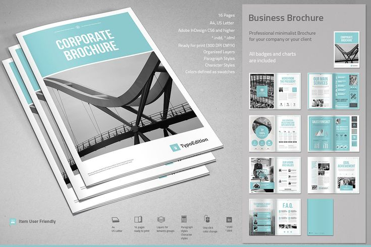 Corporate Brochure by TypoEdition on Creative Market.  #technology #brochure #creativemarket #cotici