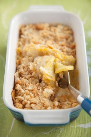 Cheesy Squash Casserole (made with cheese & sour cream)  from Paula Dean
