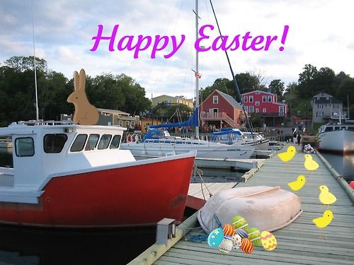 If you're missing a chocolate bunny, we think we've found it. Happy Easter from Nova Scotia's Authentic Seacoast!