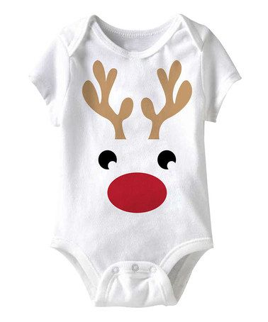 White Reindeer Bodysuit - Infant by American Classics on #zulily