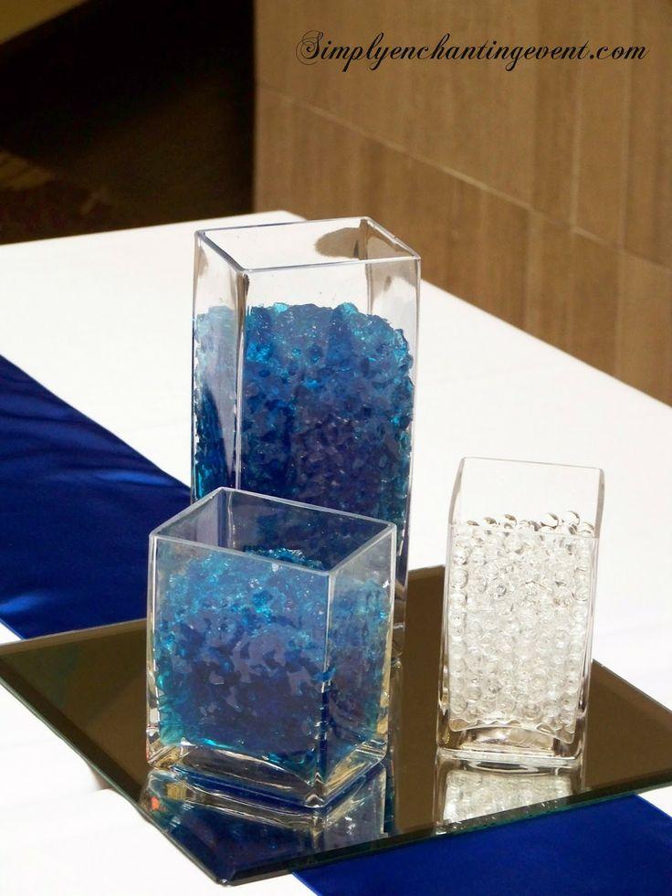 Sapphire Blue Wedding centerpieces