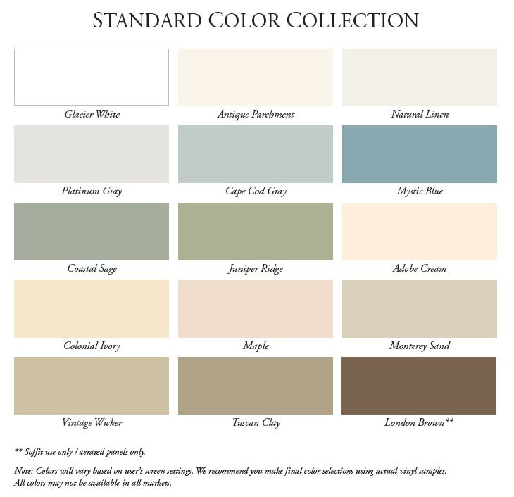 Certainteed Vinyl Siding Color Chart | close window ...