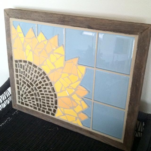 91 best Sunflower tiles images on Pinterest | Sunflowers, Room tiles ...