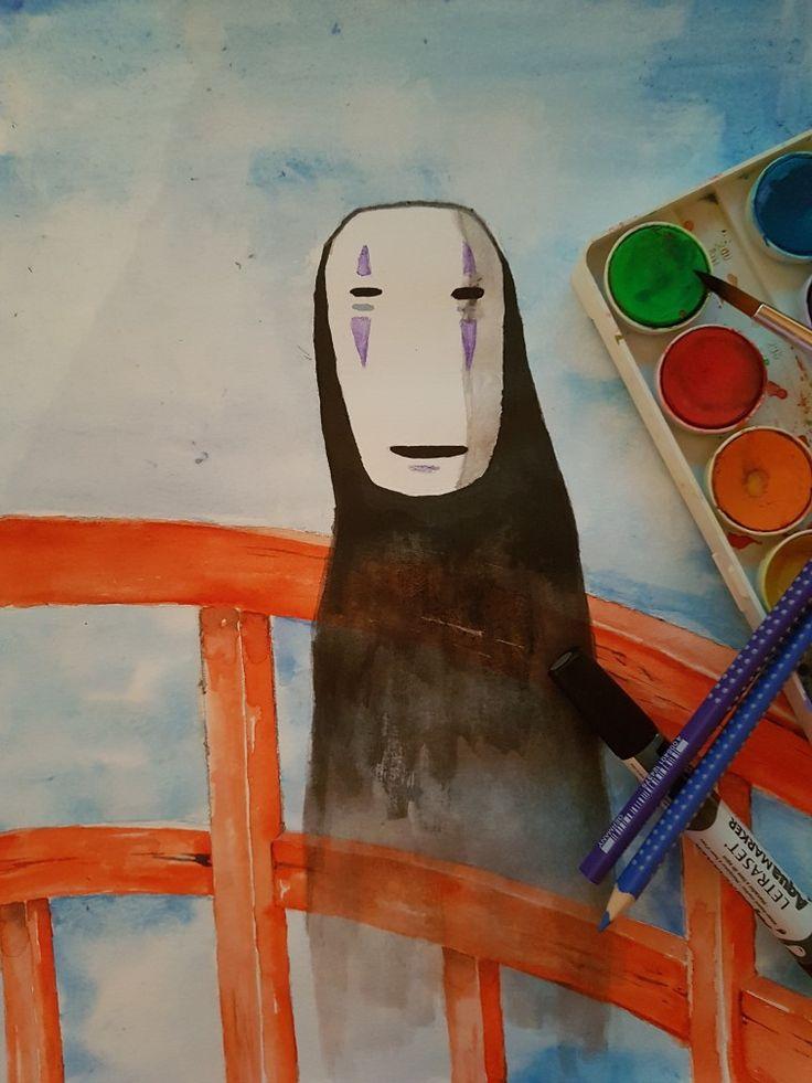 Kaonashi from sprited away #aquarell #watercolour