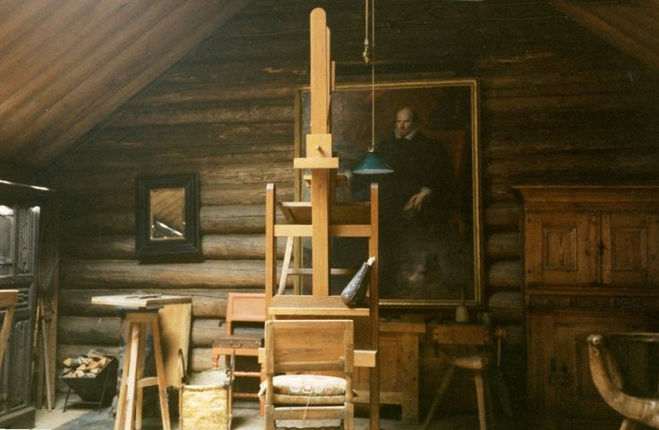Zorn's studio in Mora, Sweden.