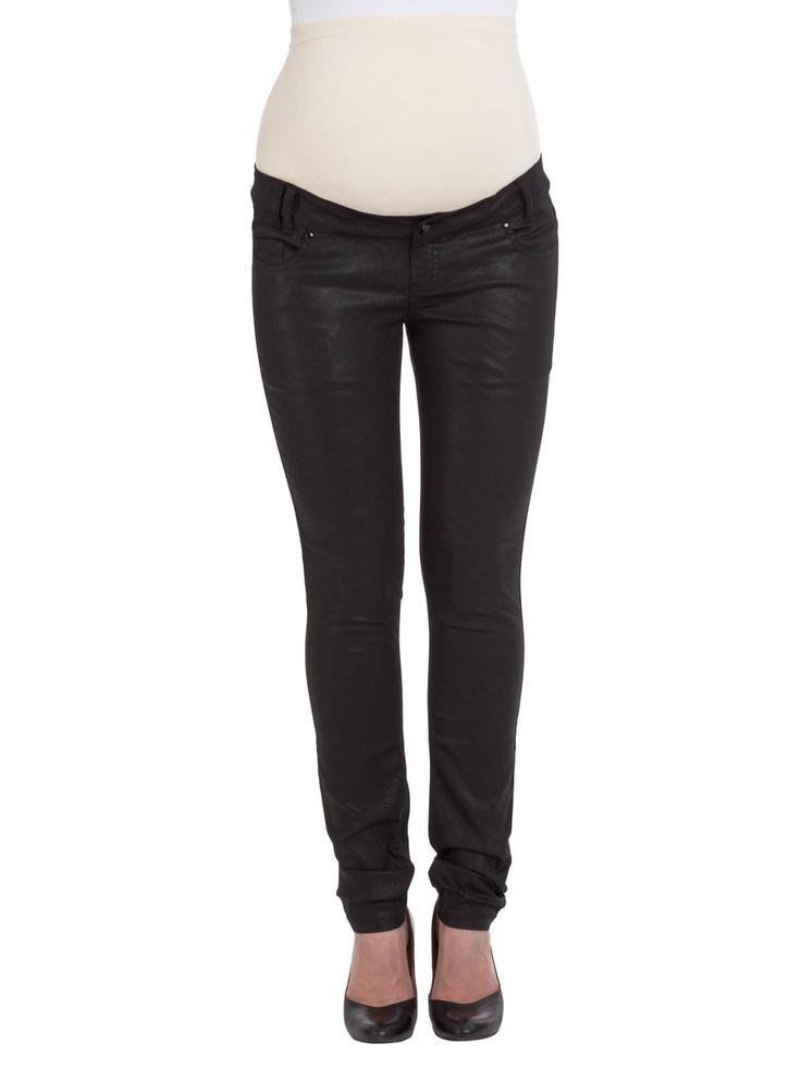 Gecoate slim jeans van Mamalicious. Heerlijk soepel, toch trendy!