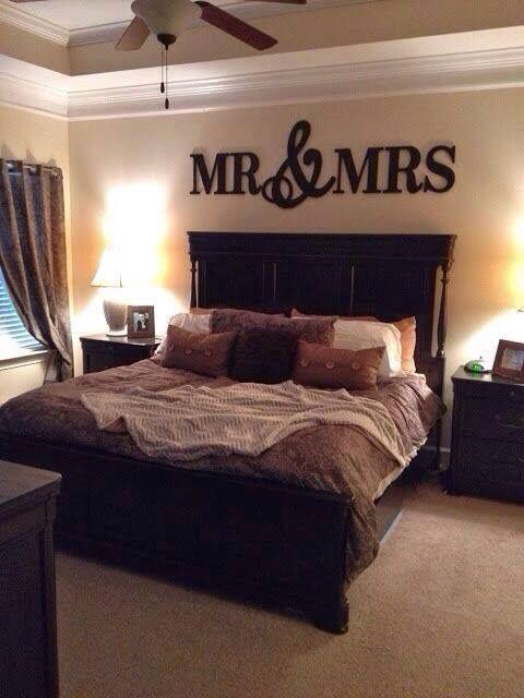 large mr mrs wall dcor wood ideas for bedroomsbedroom - Ideas For Master Bedrooms