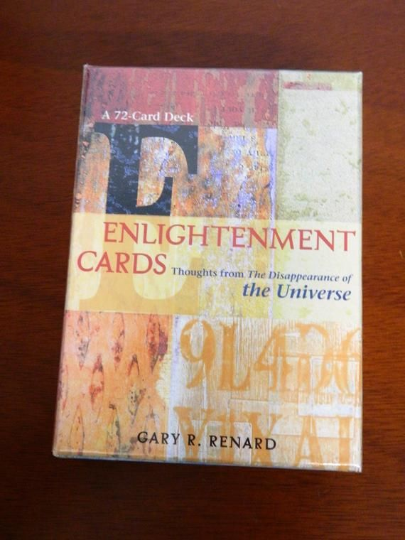 Sealed Enlightenment Cards A 72 Card Deck Gary R Renard Quick Ship Diffusers Spells Dryherbsandflowers Wiccastarterkit Deck Of Cards Cards Enlightenment