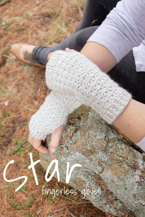 Star     Fingerless Gloves by Thislushcorner on Etsy