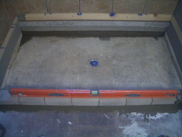 Building A Concrete Shower Pan On A Basement Floor Brick