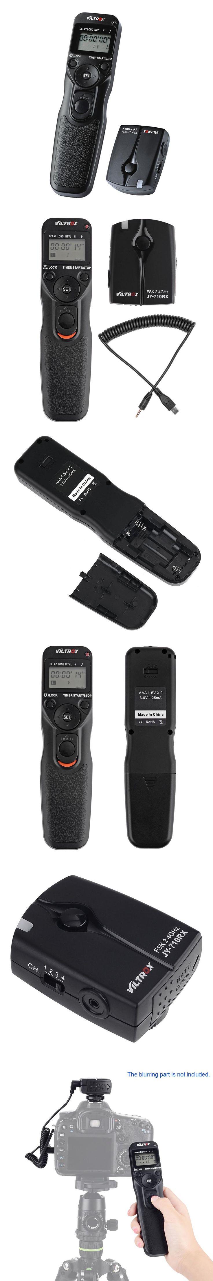 VILTROX JY710-S2 LCD Shutter Release Camera Timer Remote Wireless Controller for Sony A7RII A7M2 NEX-3N A6000 HX400 RX100M2M3M4