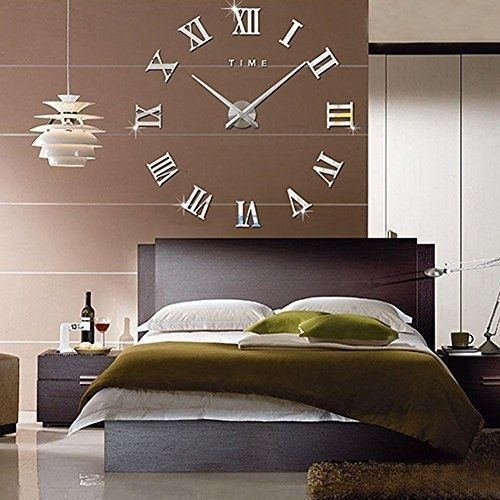 Large-Huge-Retro-Old-Style-Beroom-Lounge-Black-xl-Roman-Numeral-Wall-Clock-NEW