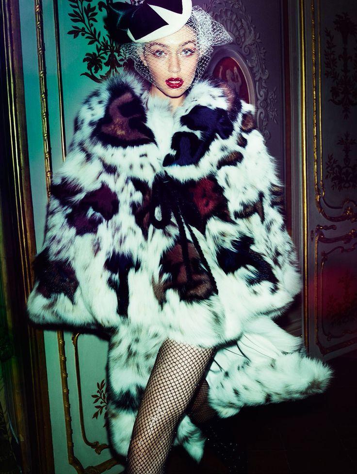 Gigi Hadid by Mario Testino for Vogue Paris November 2016 - Fendi Fall 2016 Haute Couture