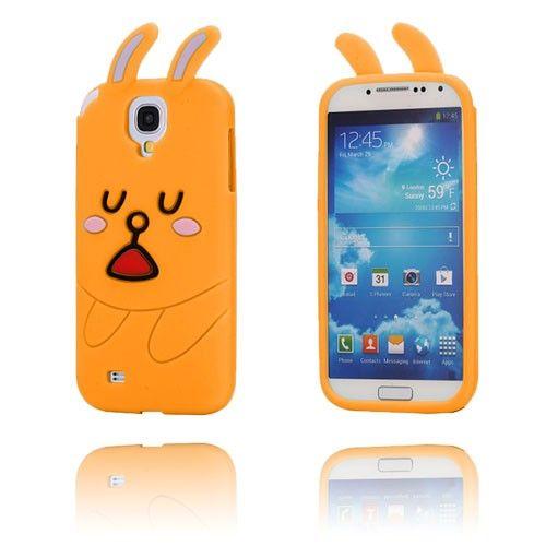 Cute Rabbit (Oransje) Samsung Galaxy S4 Deksel