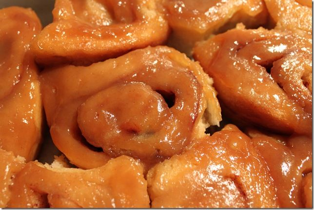 Homemade caramel rolls