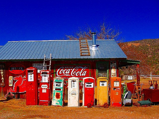 colorful and good memories #gas pumps #retro