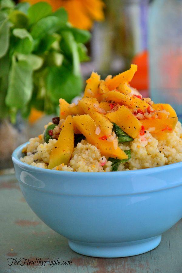Easy Mango Millet Salad {Gluten-Free, Dairy-Free, Vegan}Glutenfree